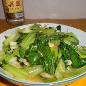 虾皮炒青菜的做法