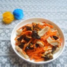 胡萝卜木耳炒肉