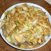 大白菜炒豆皮