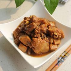 杏鲍菇烧鸡翅 的做法