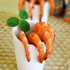 生炒胡椒虾的做法