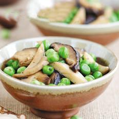 鲜蘑炒豌豆