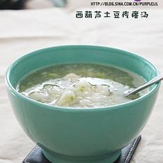 西葫芦土豆疙瘩汤的做法