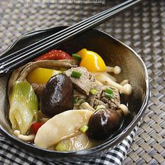 蚝油杂菇牛肉丸煲