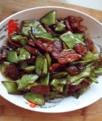 肉片刀豆的做法