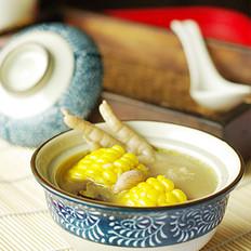 花生玉米煲鸡脚的做法