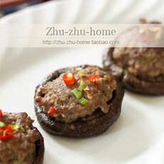 烤箱版肉馅釀香菇的做法