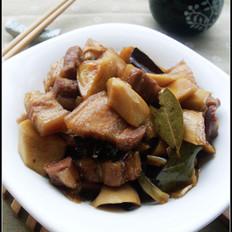 杏鲍菇烧肉 的做法