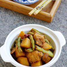 土豆五花肉炖豆角的做法