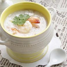 砂锅鲜虾粥的做法