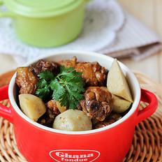 芋艿酒酿鸡的做法