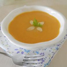 奶香南瓜杏仁浓汤的做法