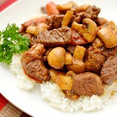 沙茶牛肉蘑菇饭