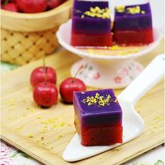 紫薯山楂羊羹 的做法