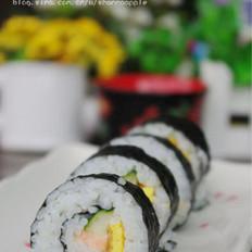 三文鱼紫菜包饭的做法