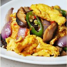 酱炒香菇鸡蛋 的做法