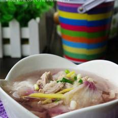木槿花肉片汤的做法