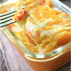 芝士薯蓉焗南瓜的做法