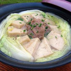 白菜豆腐排骨汤的做法