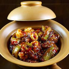 鱼香虾球茄子煲的做法