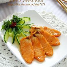 柠香蜜汁三文鱼的做法
