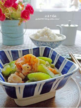 丝瓜炒虾仁的做法