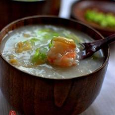 鲍鱼鲜虾粥的做法