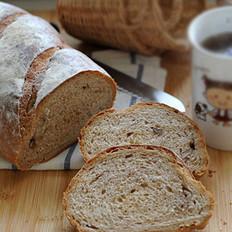 全麦红糖核桃面包的做法