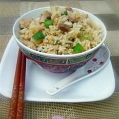 咸鱼鸡粒炒饭的做法