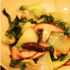 肉末香菇油菜 的做法