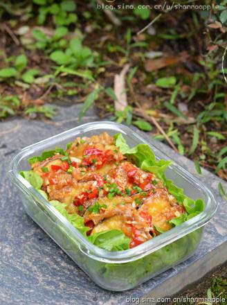 鱼香茄盒的做法