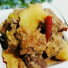 大鹅焖土豆的做法