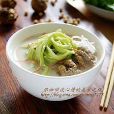 豆浆翡翠面的做法