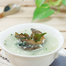 紫苏鳅鱼粥 的做法