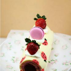 彩绘蛋糕卷 的做法