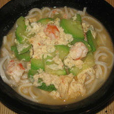 西葫芦大虾面的做法