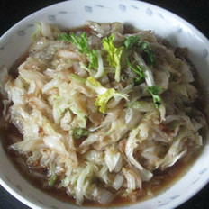 虾皮炒白菜叶