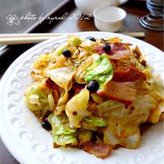 香辣培根圆白菜 的做法