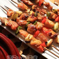 香烤彩椒雞肉串的做法