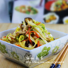 三丝炒大白菜 的做法