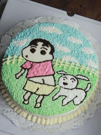 卡通手绘生日蛋糕的做法
