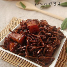 豇豆干红烧肉的做法