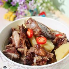 腊排骨炖土豆的做法