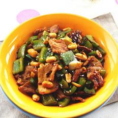 香辣甜椒炒肉片的做法