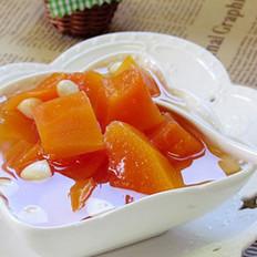 南北杏炖木瓜的做法