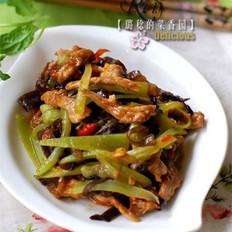 青笋炒肉丝的做法