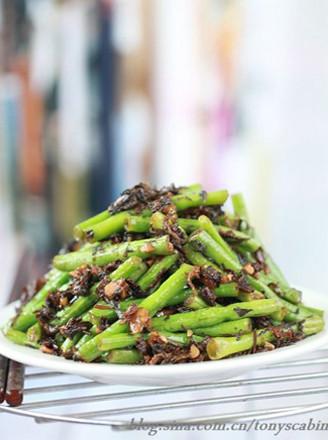 梅干菜炒豇豆的做法