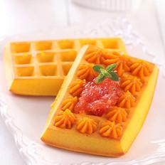 红柚酱南瓜华夫饼