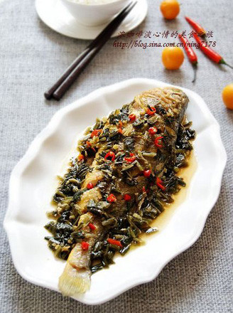 雪菜烧黄鱼的做法