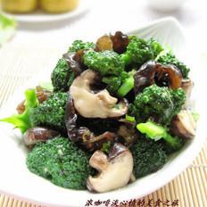 鮑汁菌菇西蘭花的做法
